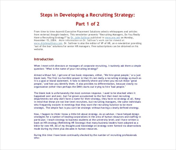 Recruiting Strategy Template Choice Image - Template Design Ideas - recruitment strategies template