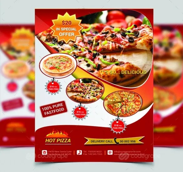 pizza flyer templates - Heartimpulsar