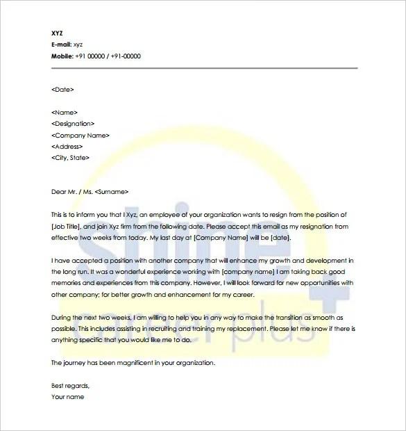 21+ Notice Period Letter Templates - PDF, DOC Free  Premium Templates - why notice period is important
