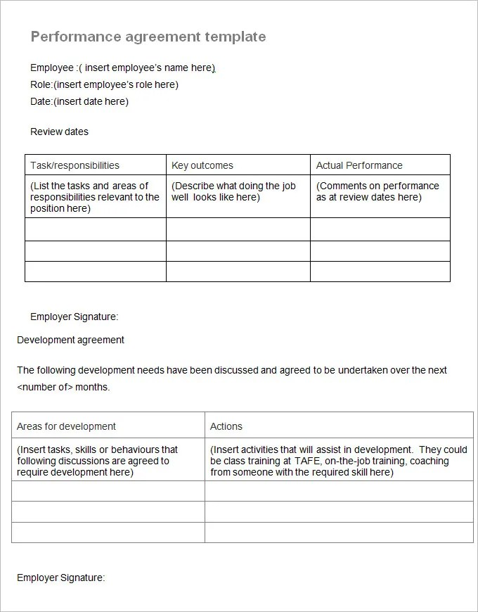 Performance Contract Templates Artist Performance Contract Template - performance contract templates
