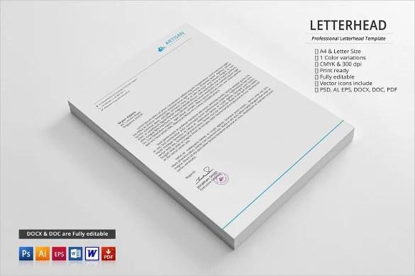 29+ Corporate Letterhead Templates - DOC, PSD Free  Premium Templates - psd letterhead template