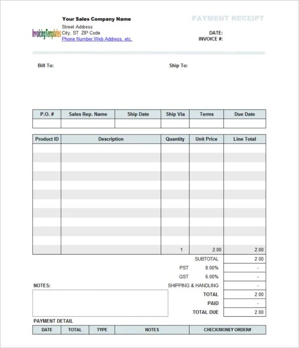 payment receipt format in word - Boatjeremyeaton - payment received receipt template