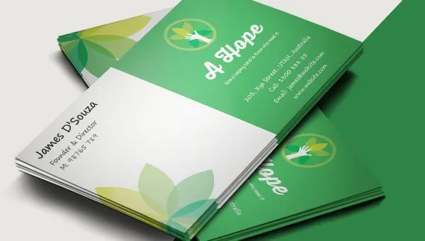 Excellent Charity Business Card Template Free  Premium Templates