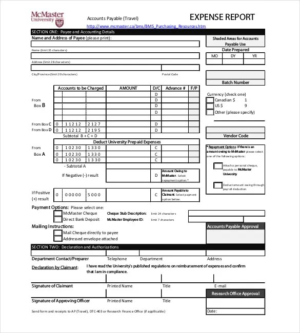 8+ Expense Report Templates - Free Sample, Example, Format Download - example of expense report