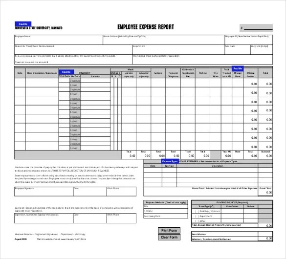 expense report forms excel - Onwebioinnovate