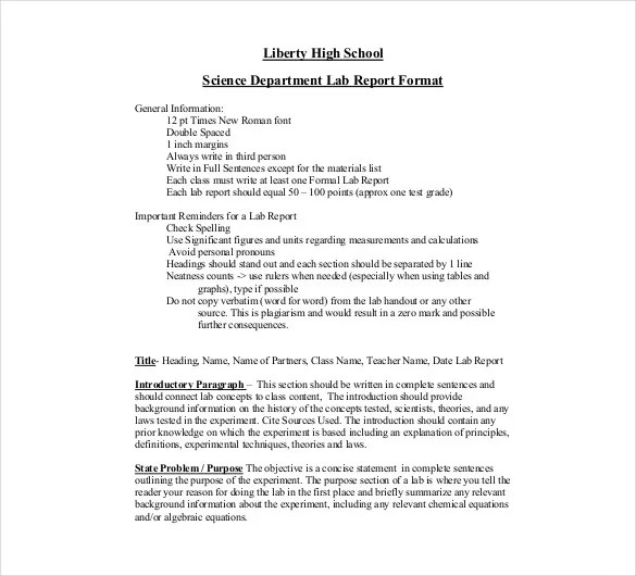 14+ Laboratory Report Templates - Free Sample, Example, Format