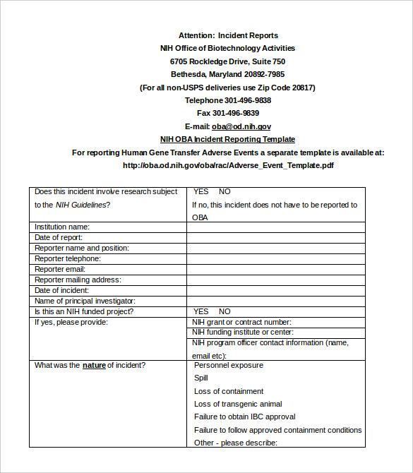 osp incident report