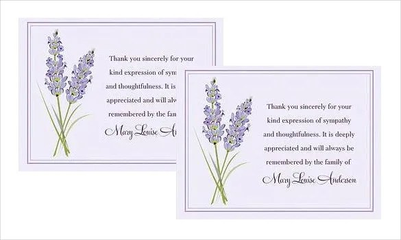 How to Write Thank You Cards for Funeral Free \ Premium Templates - funeral thank you note
