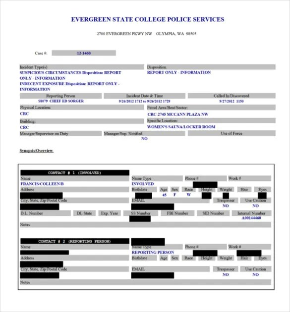 10+ Police Report Templates - Free Sample, Example, Format Download - mock police report