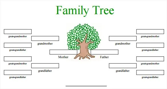 family tree templates free editable - Canasbergdorfbib