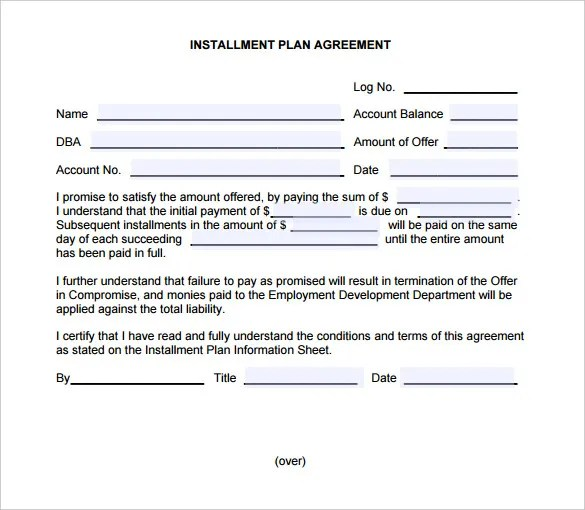 Payment Settlement Agreement Template Sample Document Resume