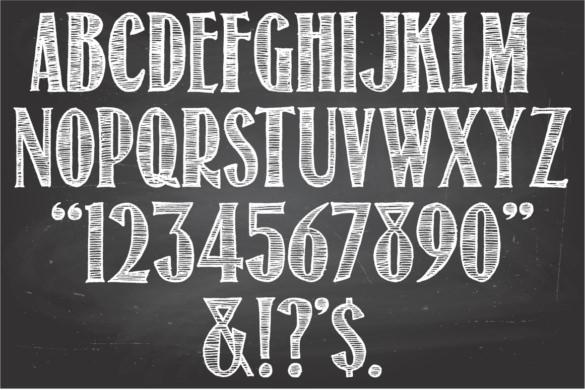 24+ Chalkboard Fonts \u2013 Free OTF, TTF Format Download! Free - chalkboard writing template