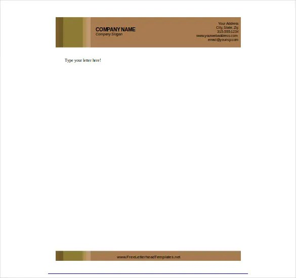letterhead format download free - Onwebioinnovate