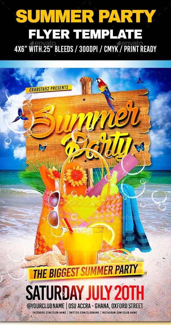 47+ Summer Party Flyer Templates - PSD, AI, Vector EPS, Word Free