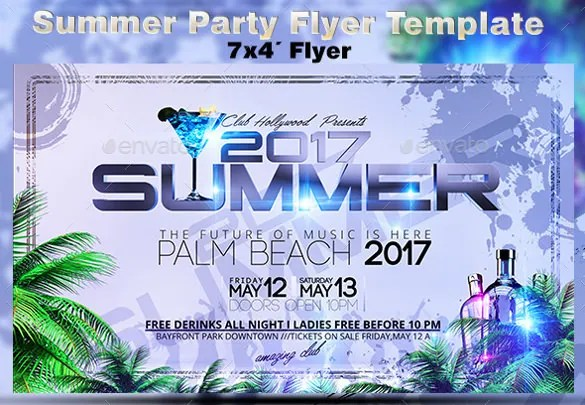 Summer Party Flyers \u2013 39+ Free PSD, AI, Vector EPS Format Download
