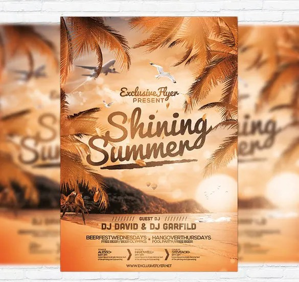 Summer Party Flyers \u2013 39+ Free PSD, AI, Vector EPS Format Download - free landscape flyer templates