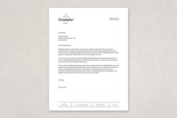 Free Letterhead Template u2013 14+ Free Word, PDF Format Download - letterhead format in word