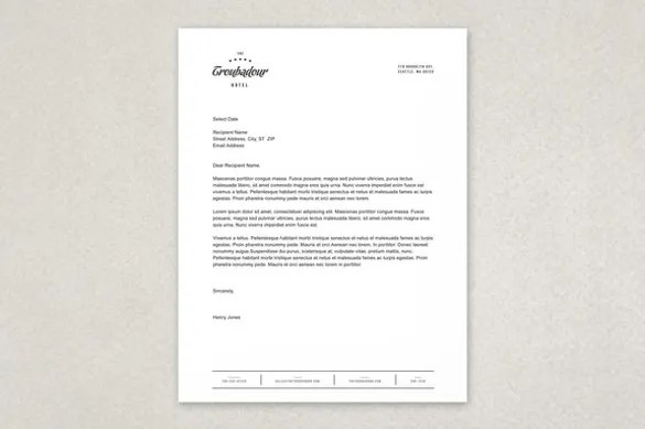 Free Letterhead Template \u2013 14+ Free Word, PDF Format Download Free