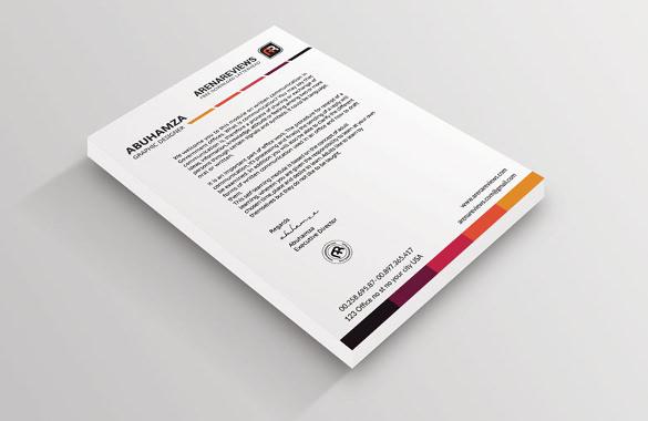 Free Letterhead Template \u2013 14+ Free Word, PDF Format Download Free - free letterhead templates for word