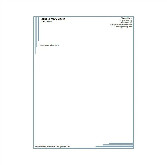 14+ Free Letterhead Templates \u2013 Free Sample, Example Format Download - Free Business Letterhead Template