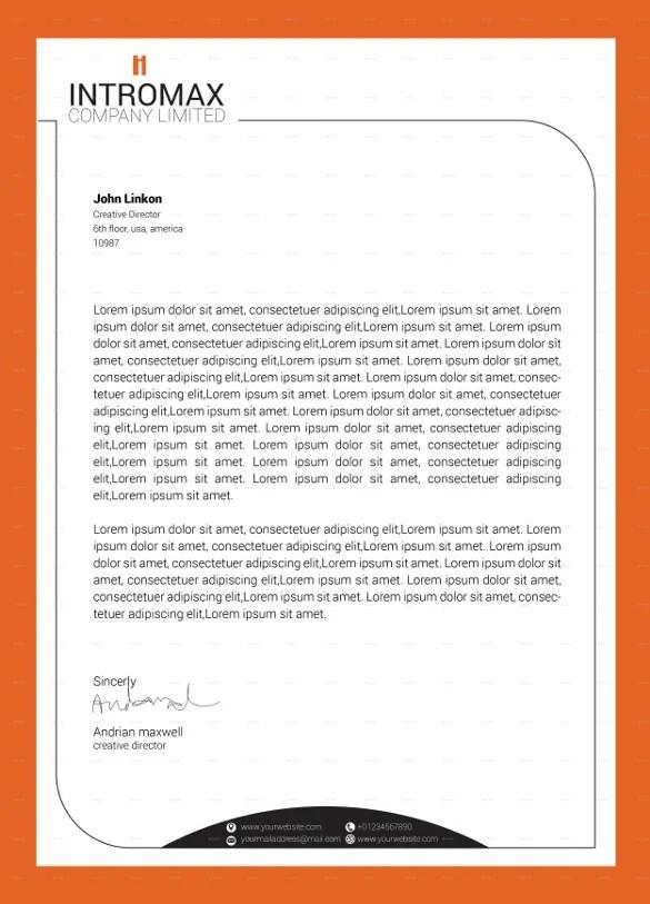 16+ Company Letterhead Templates - PDF, PSD, AI Free  Premium - company letterhead template