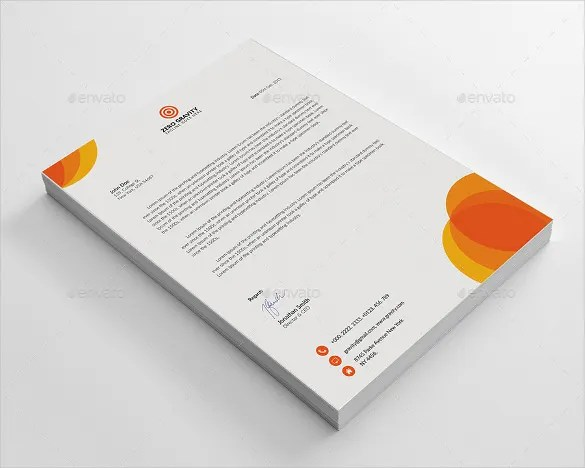 20+ Business Letterhead Templates \u2013 Free Sample, Example Format