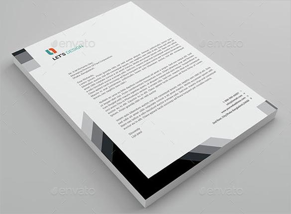 black and white letterhead