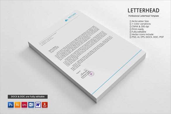 20+ Business Letterhead Templates \u2013 Free Sample, Example Format