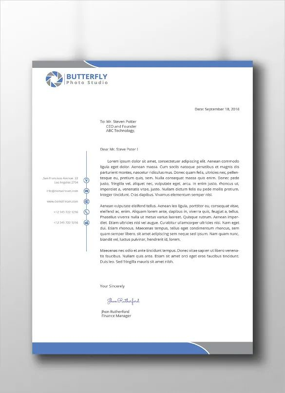 corporate letterhead templates