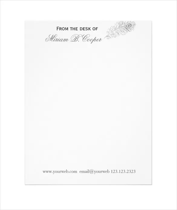 15+ Professional Letterhead Templates u2013 Free Sample, Example - professional letterhead