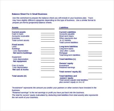 Balance Sheet Templates - 18+ Free Word, Excel, PDF Documents Download! | Free & Premium Templates
