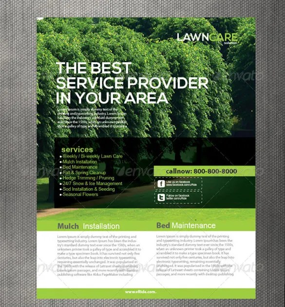 27+ Lawn Care Flyers - PSD, AI, Vector EPS Free  Premium Templates