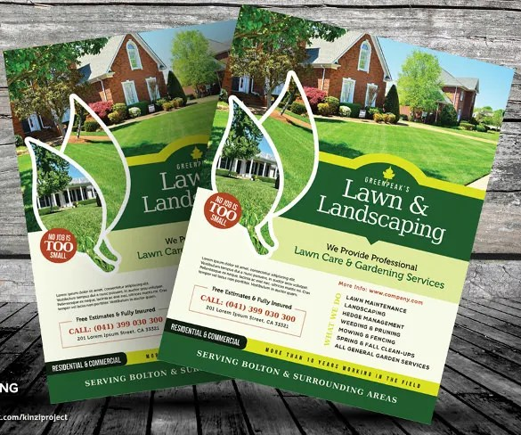Lawn Care Flyers \u2013 28+ Free PSD, AI, Vector EPS Format Download