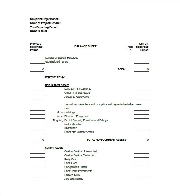 Balance Sheet Templates - 12+ Free Sample, Example, Format Download