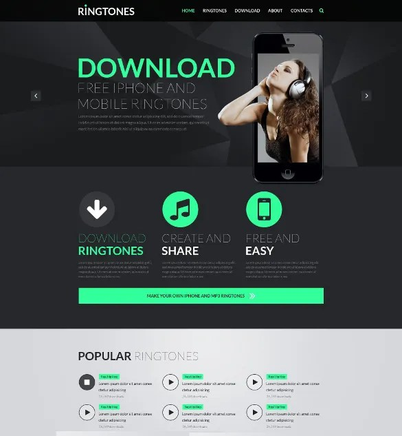 29+ Music HTML5 Themes  Templates Free  Premium Templates