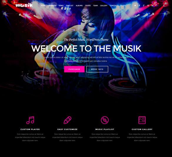 music html5 template