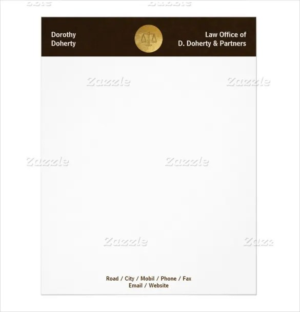 10+ Legal Letterhead Templates \u2013 Free Sample, Example Format