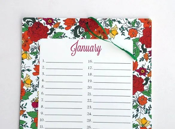 monthly birthday calendar - Ozilalmanoof - birthday calendar template