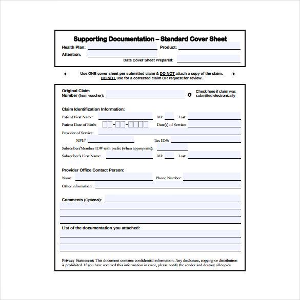 10+ Cover Sheet Templates u2013 Free Sample, Example, Format Download - free cover sheet template