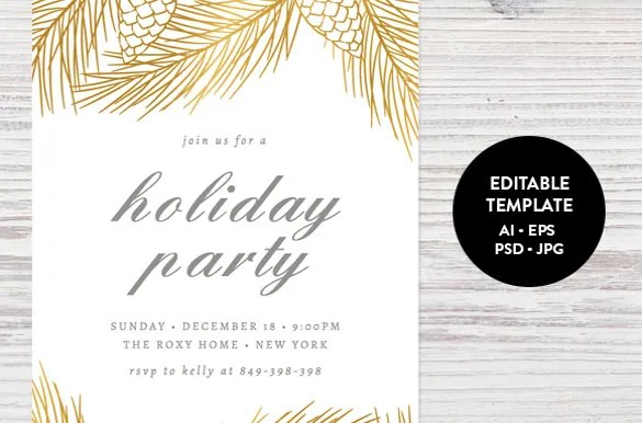 Holiday Invitation Template 17 Psd Vector Eps Ai Pdf