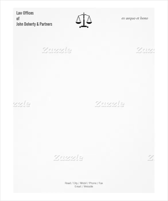 21+ Law Firm Letterhead Templates - Free Word, PDF Format Download