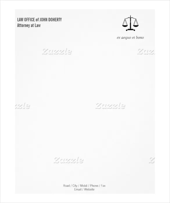 20+ Law Firm Letterhead Templates \u2013 Free Sample Example Format