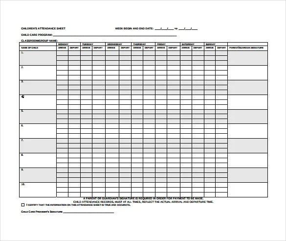 monthly attendance sheet template trattorialeondoro