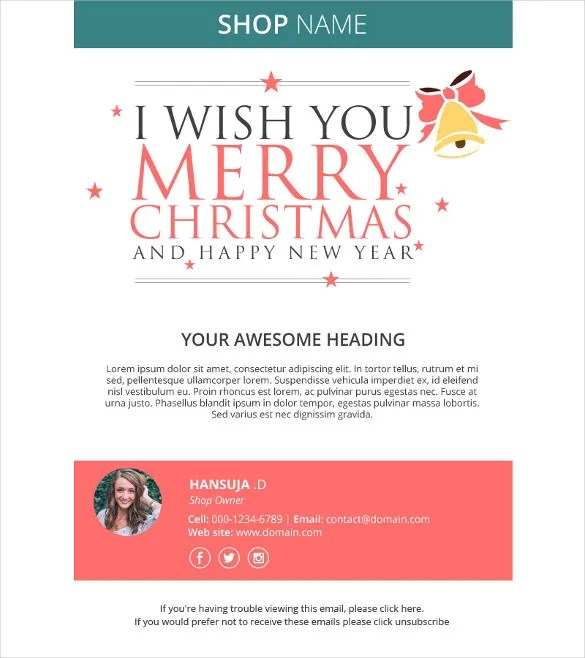 Holiday Email Template \u2013 18+ Free JPG, PSD Format Download Free - holiday closure sign template