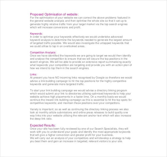 10+ SEO Report Templates - Free Sample, Example, Format Download - analysis report sample