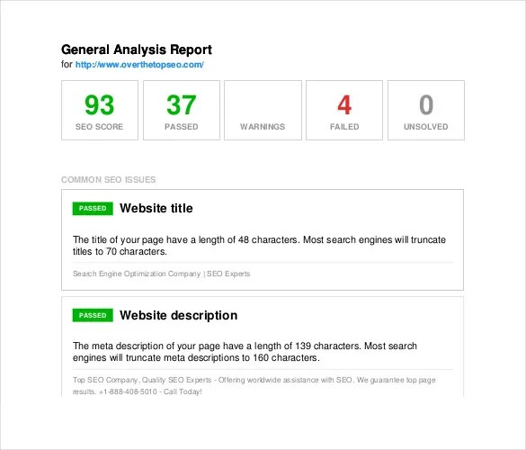 14+ SEO Report Templates - Free PDF, Apple Pages, Google Docs, Word
