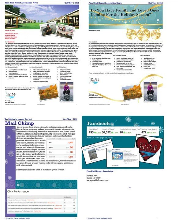 14+ Holiday Newsletter Template \u2013 Free Sample, Example, Format