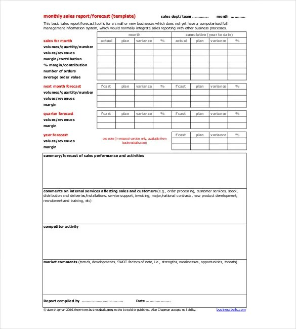 Sales Report Sample Example Field Sales Report Field Sales Report - construction project report format