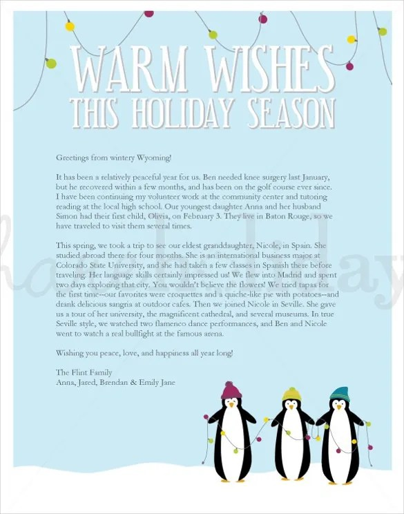 holiday letter template - Goalgoodwinmetals