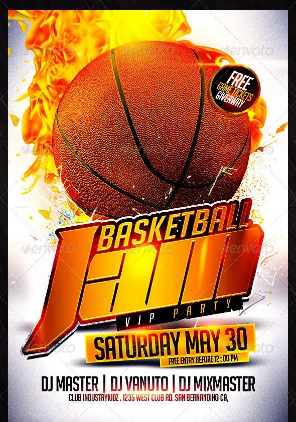 31+ Basketball Flyers - Free PSD, AI, Vector EPS Format Download - basketball flyer example